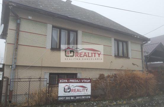 Na predaj Rodinný dom v obci Ábelová